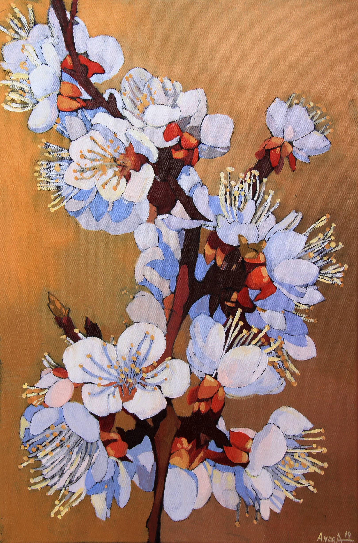 Весеннее цветение, 60х40см., холст, масло, 2014