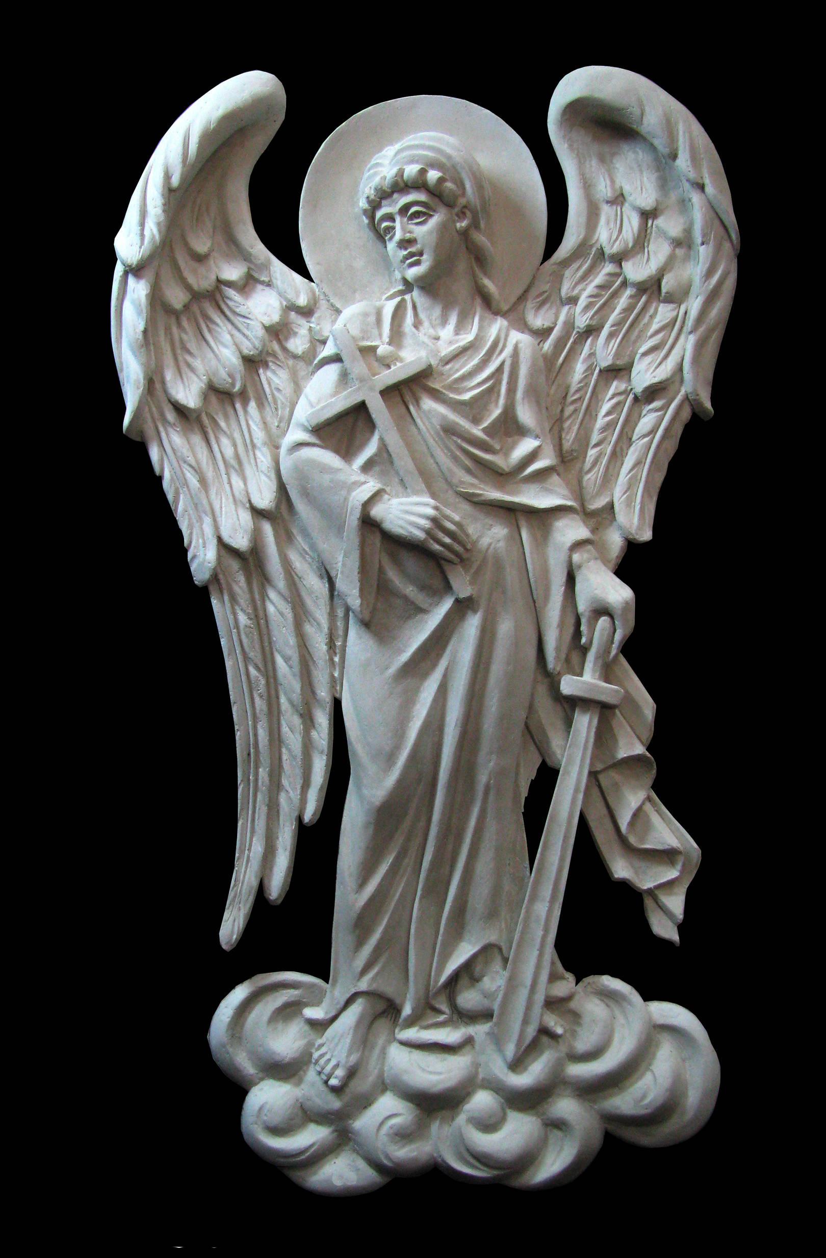 Ангел хранитель.гипс. 350 мм.