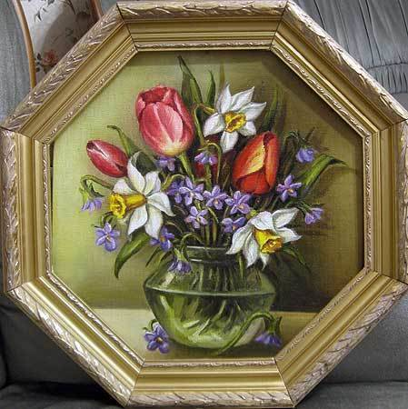 Весенний букет (холст,масло)-художник Ядвига Сенько