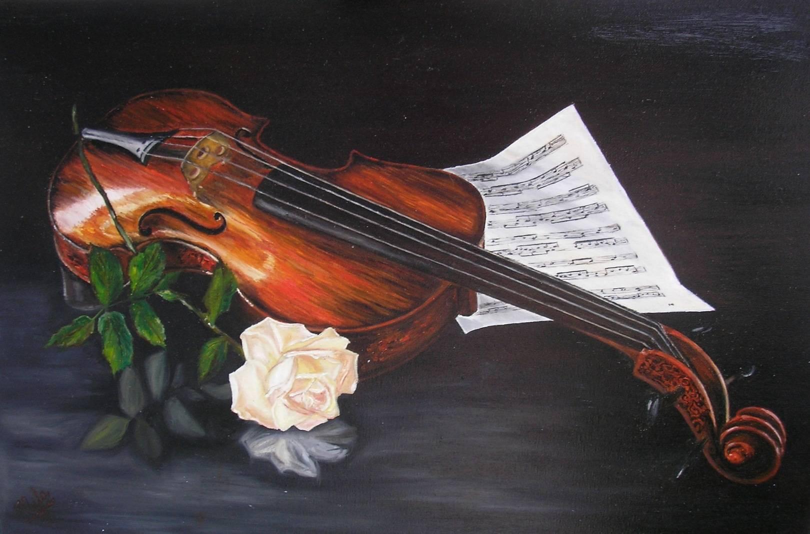 Влюбленный скрипачViolinist in loveх/мoil on canvas40х60
