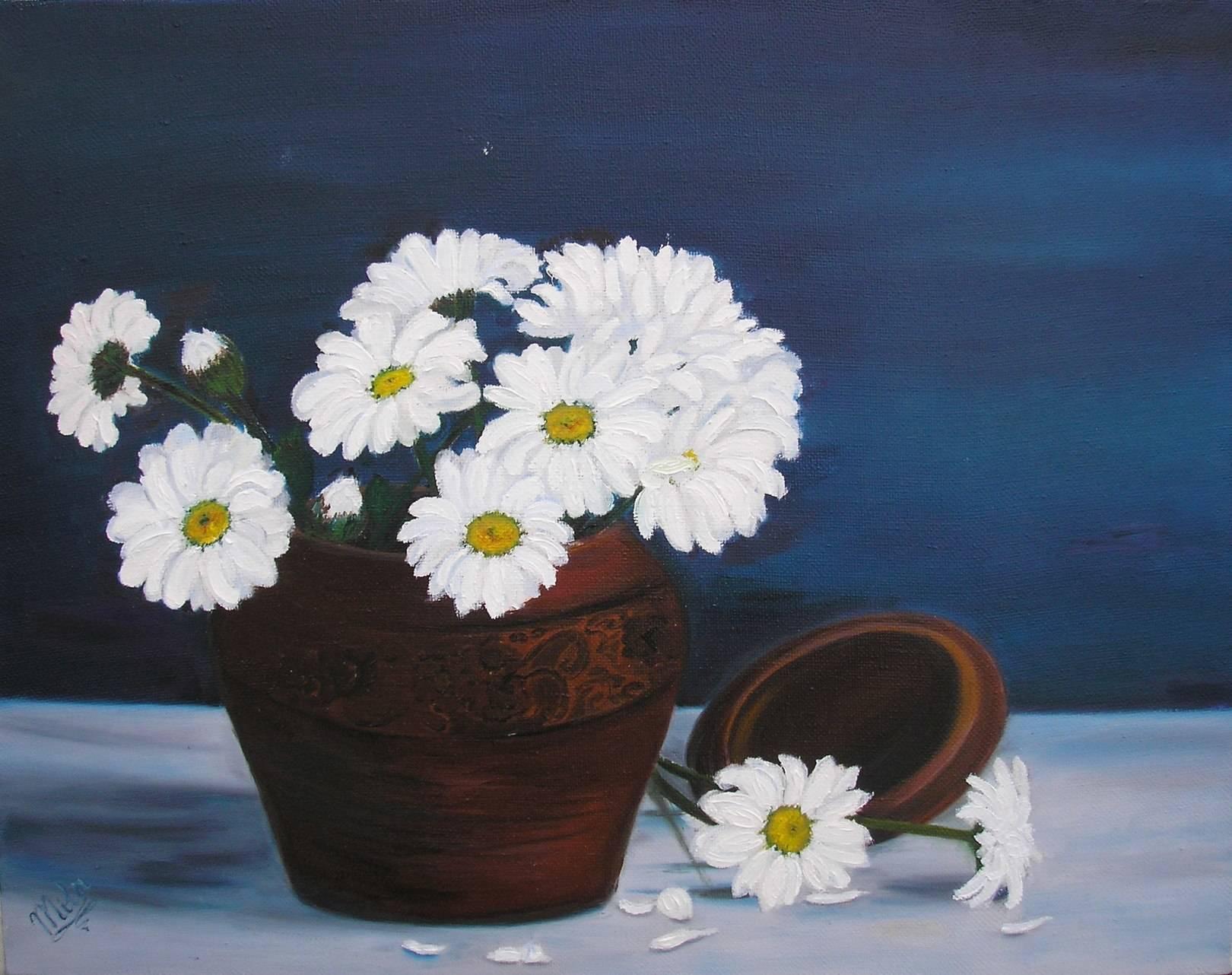 ХризантемыChrysanthemumх/мoil on canvas35х45