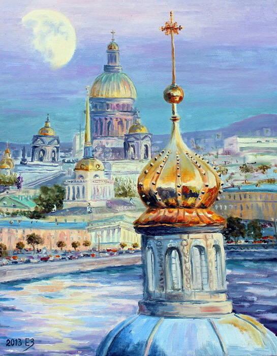 Шепот белых ночей, 40*50 х.м. 2013 Новосибирск
