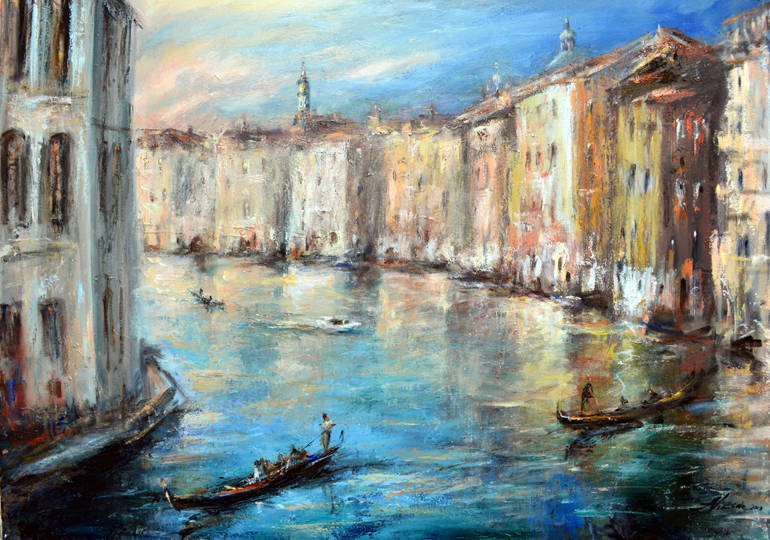 .Alla Viksne,Venice oil on canvas, 38x42''2013