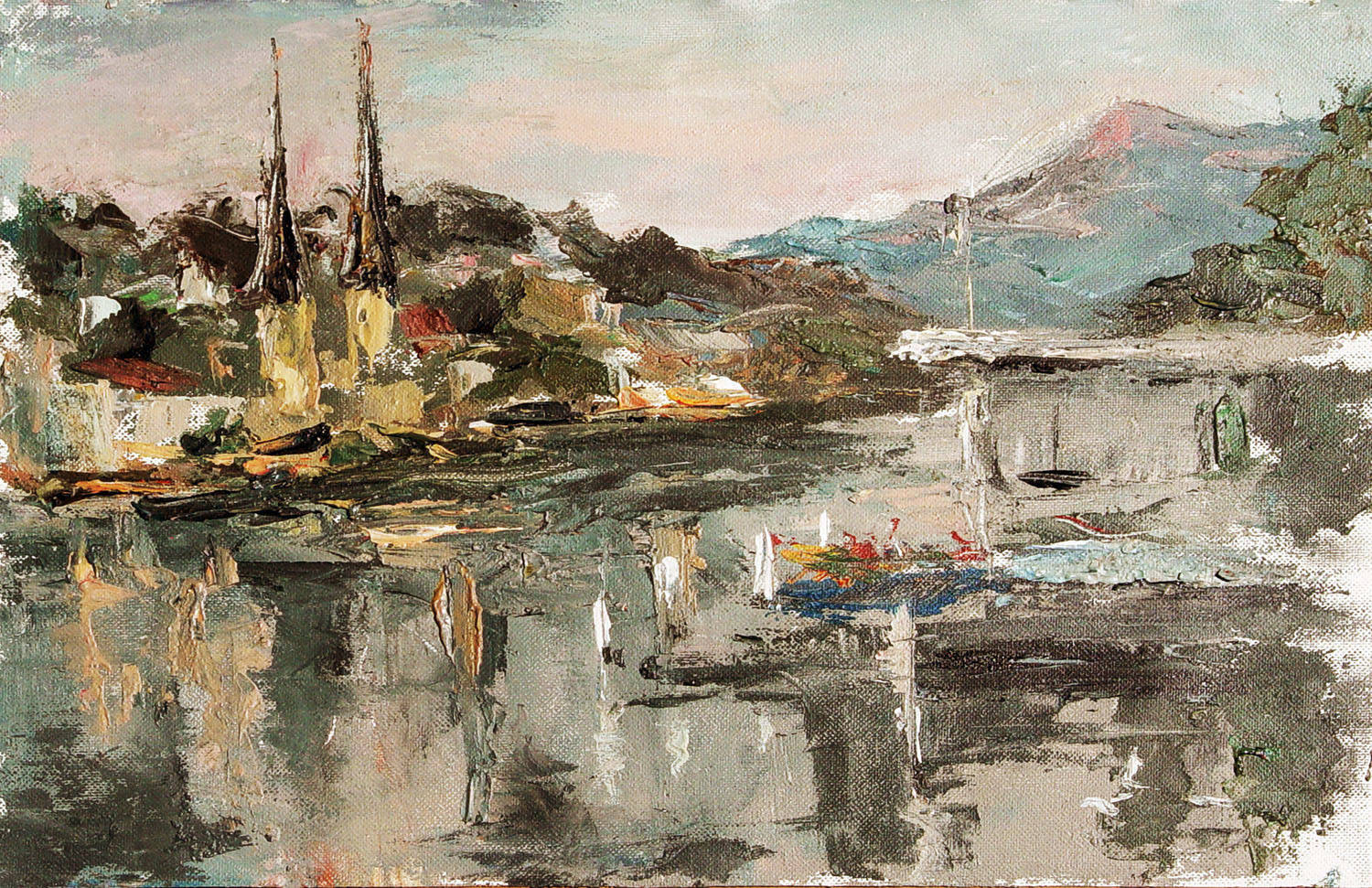 Ala Viksne  Mount Pilatus  Lucerne  Switzerland  2007  acrylic on canvas  17x21''