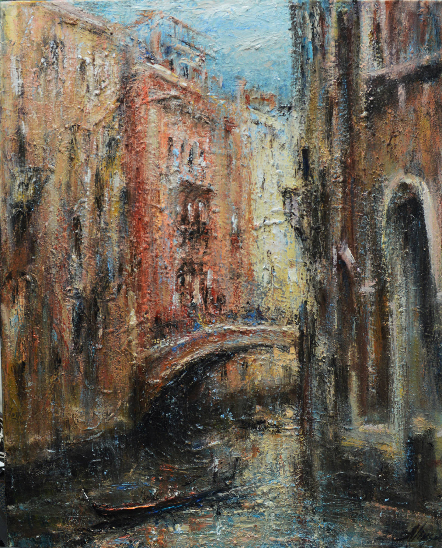 Canals of Venice, 32x24' oil on canvas,2013