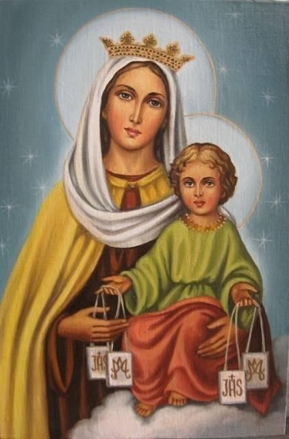 Дева Мария Святого Скапулярия (холст,масло-художник Ядвига Сенько