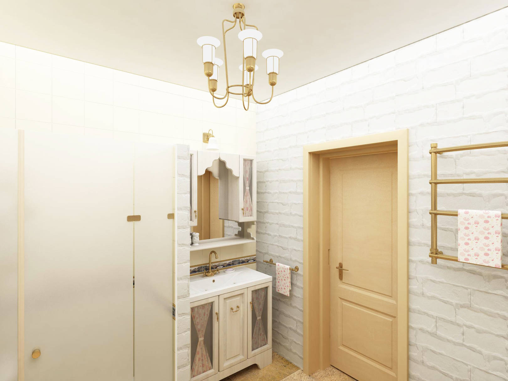 Романтическая ванная комната