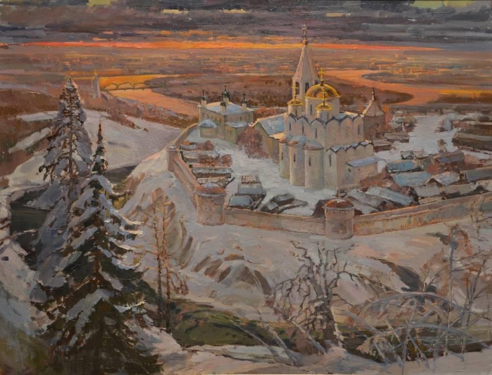 """""""Русь златоглавая"""", 2012 год, холст, масло, 100х80"""