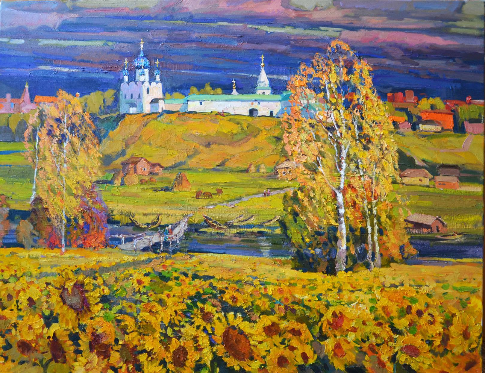 """""""Отблески лета"""", 2012 год, холст, масло, 90х70"""