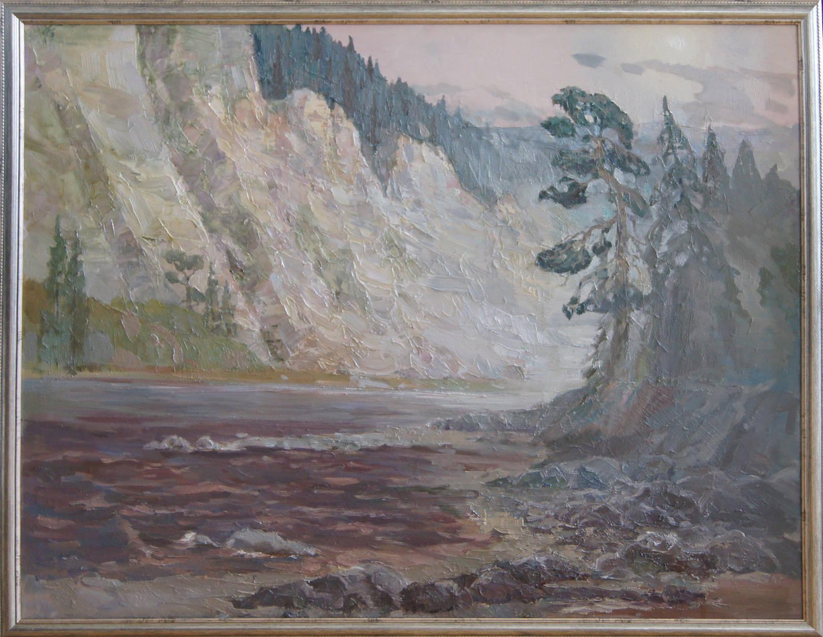 """""""Утро.Великан"""", 2011 год,холст, масло, 90х70"""
