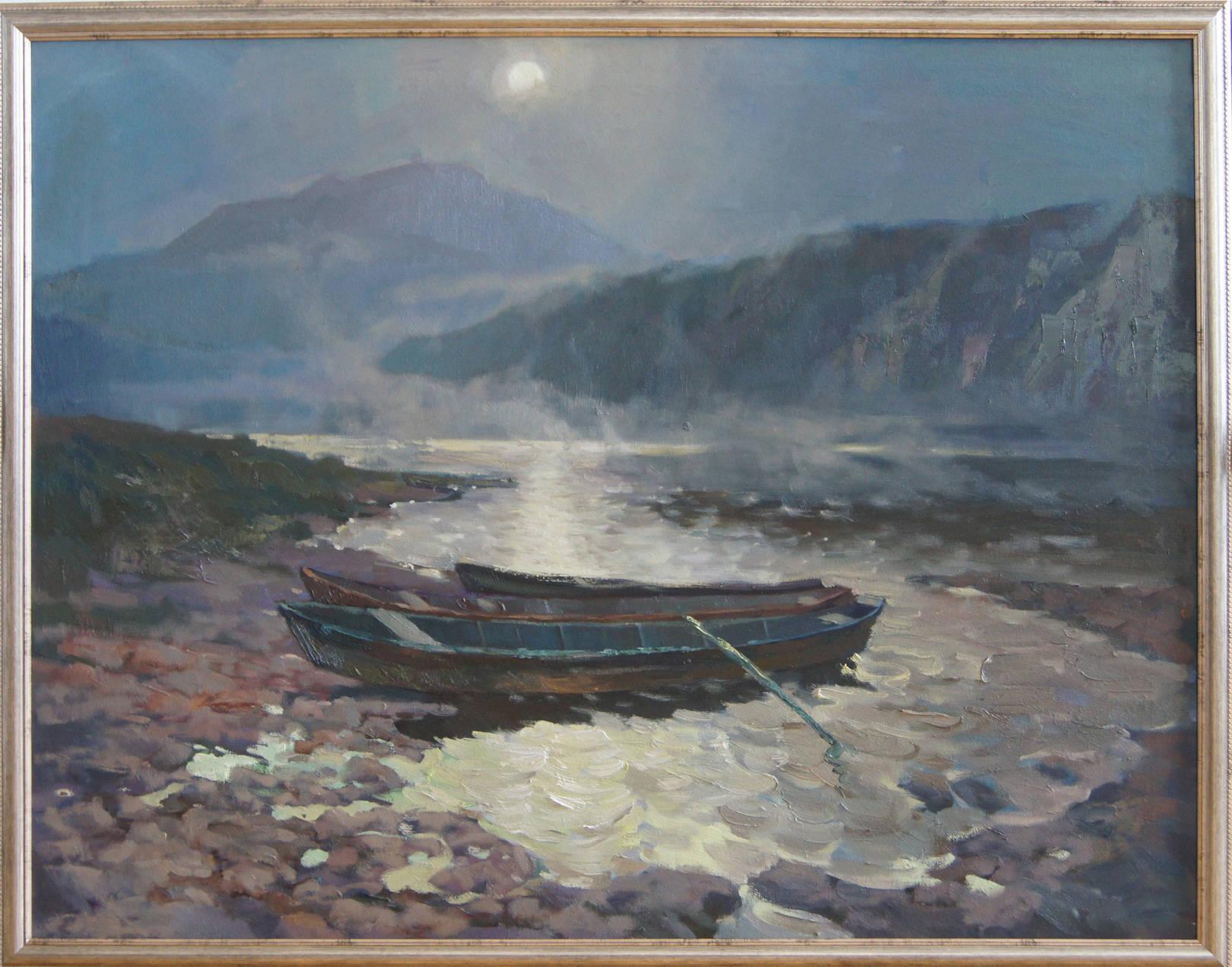 """""""Туманная ночь"""", 2011 год, холст, масло, 90х70"""