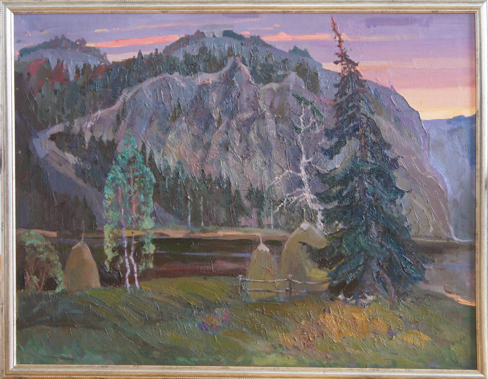 """""""Вечер на Мултыке"""", 2011 год, холст, масло, 90х70"""