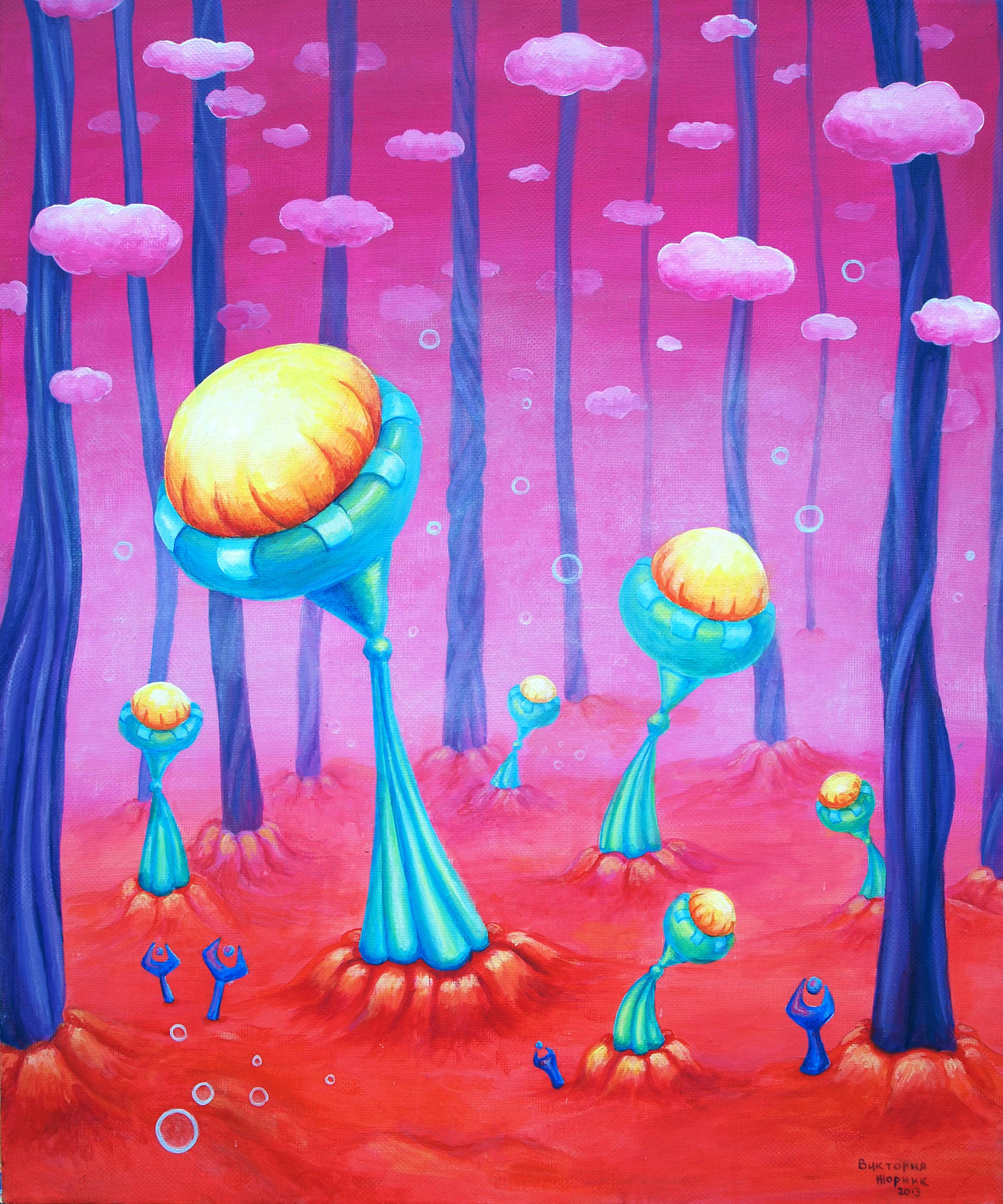 """Spores""  acrylic on canvas  50x60 cm"
