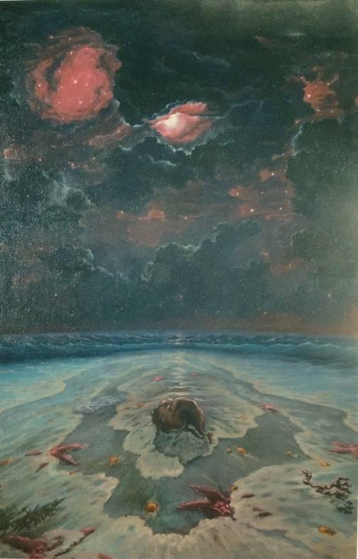 """""""Звёзды небесные и морские"""". 2 часть триптиха """"Образы моря"""". Холст, масло. 1000х700."""