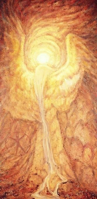 """""""Преображение"""". 2 часть диптиха """"Бытие"""". Холст, масло и малые элементы природного камня."""