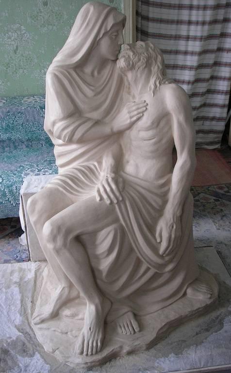 Скульптура выполненная в глине. Высота 1600.