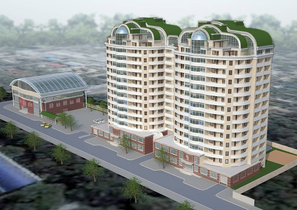 Проект административно жилого комплекса