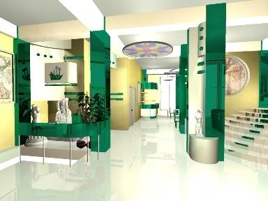 Проект холла гостиницы