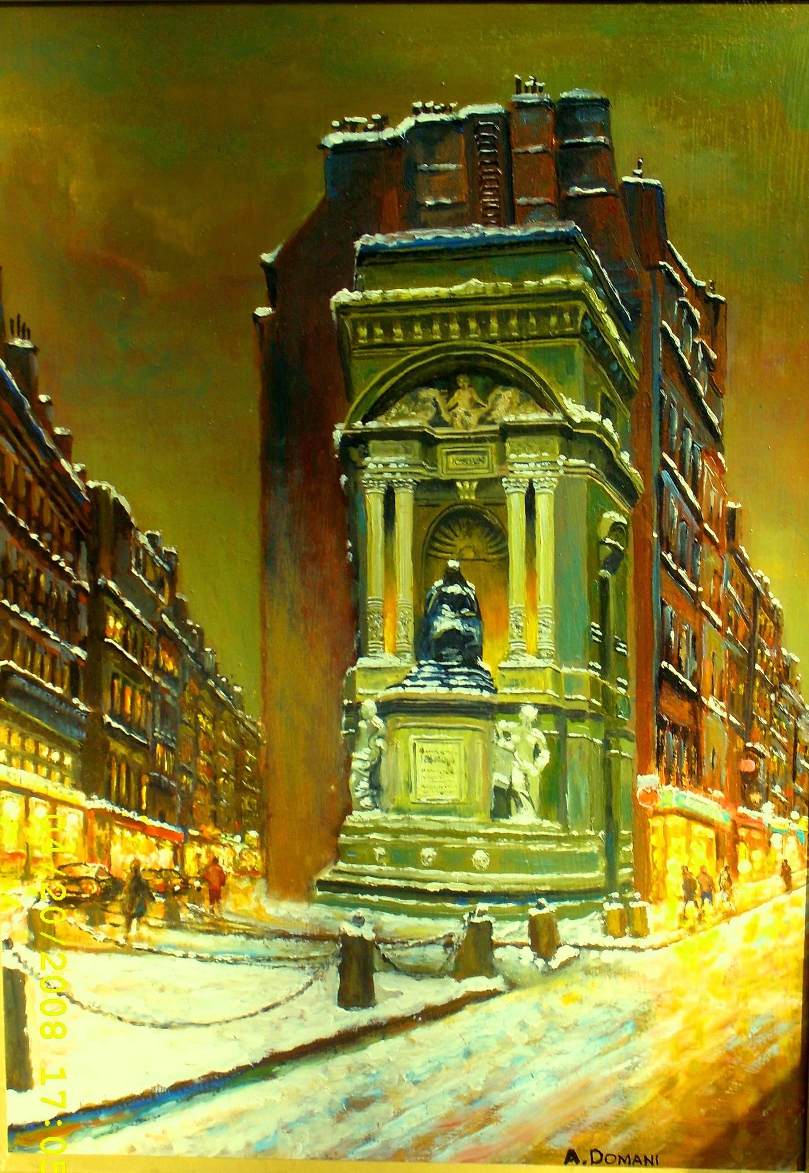 Улицы Парижа 4 ( холст , масло ) Мой импрессионизм