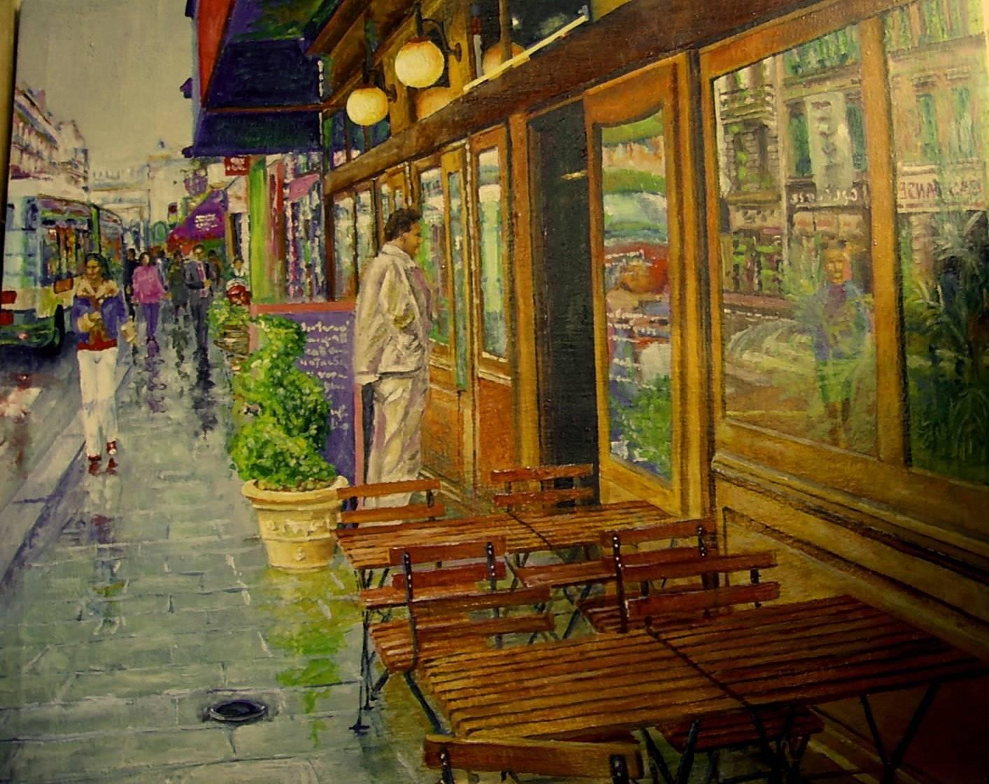 Улицы Парижа 3 ( холст , масло ) Мой импрессионизм