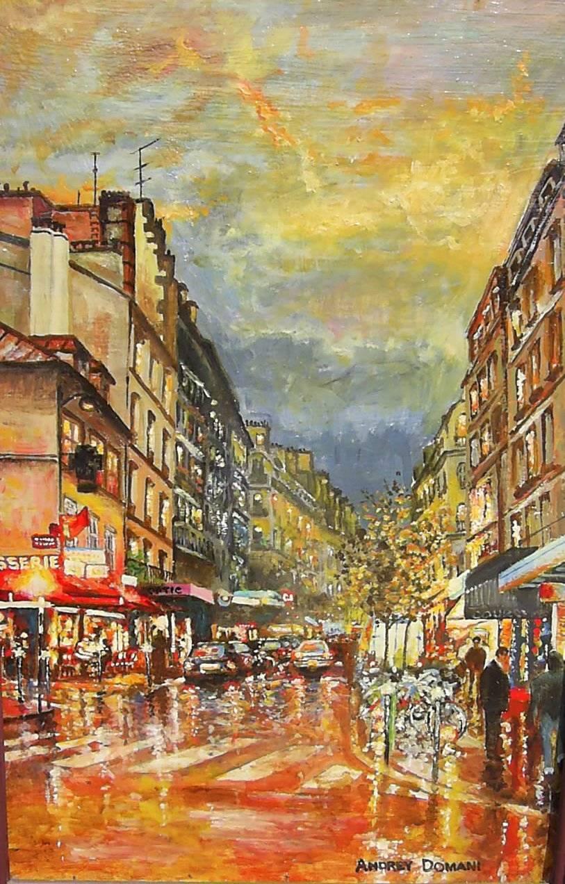 Улицы Парижа 2 ( холст , масло ) Мой импрессионизм