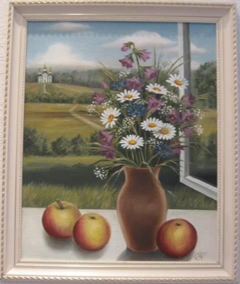 Яблочный Спас (холст,масло)-художник Ядвига Сенько