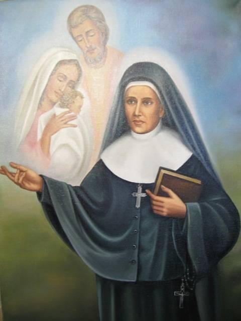 Святая Франтишка Седлиска-основательница Ордена сестер-назаретянок (холст,масло)-художник Ядвига Сенько