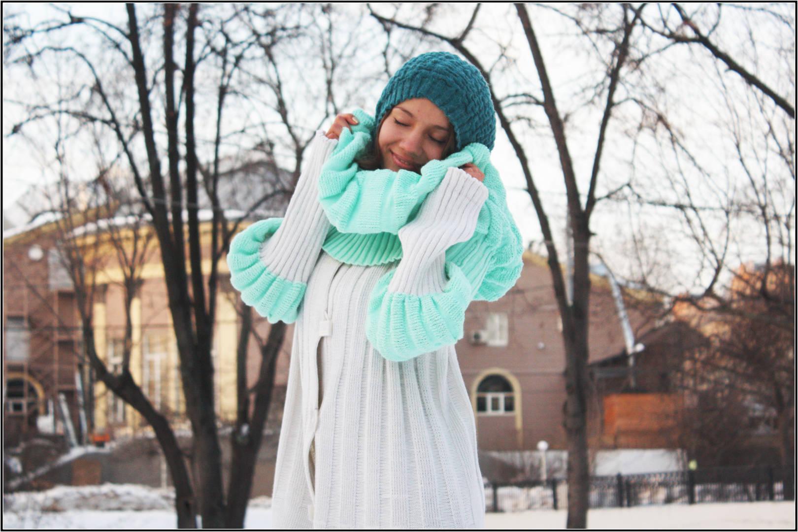 """Женская трикотажная коллекция одежды """"Бриллиантовая зима"""""""