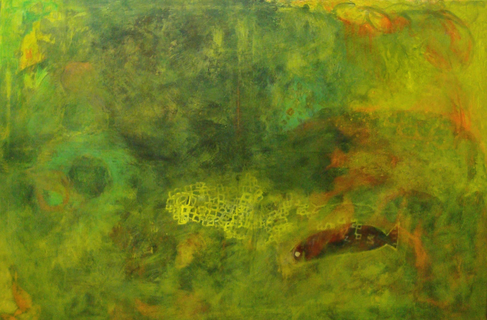 "Painting: Acrylic, Household and pastel on Canvas.  Size: 100 H x 150 W x 3 cm  ""you see...you are my sea"""