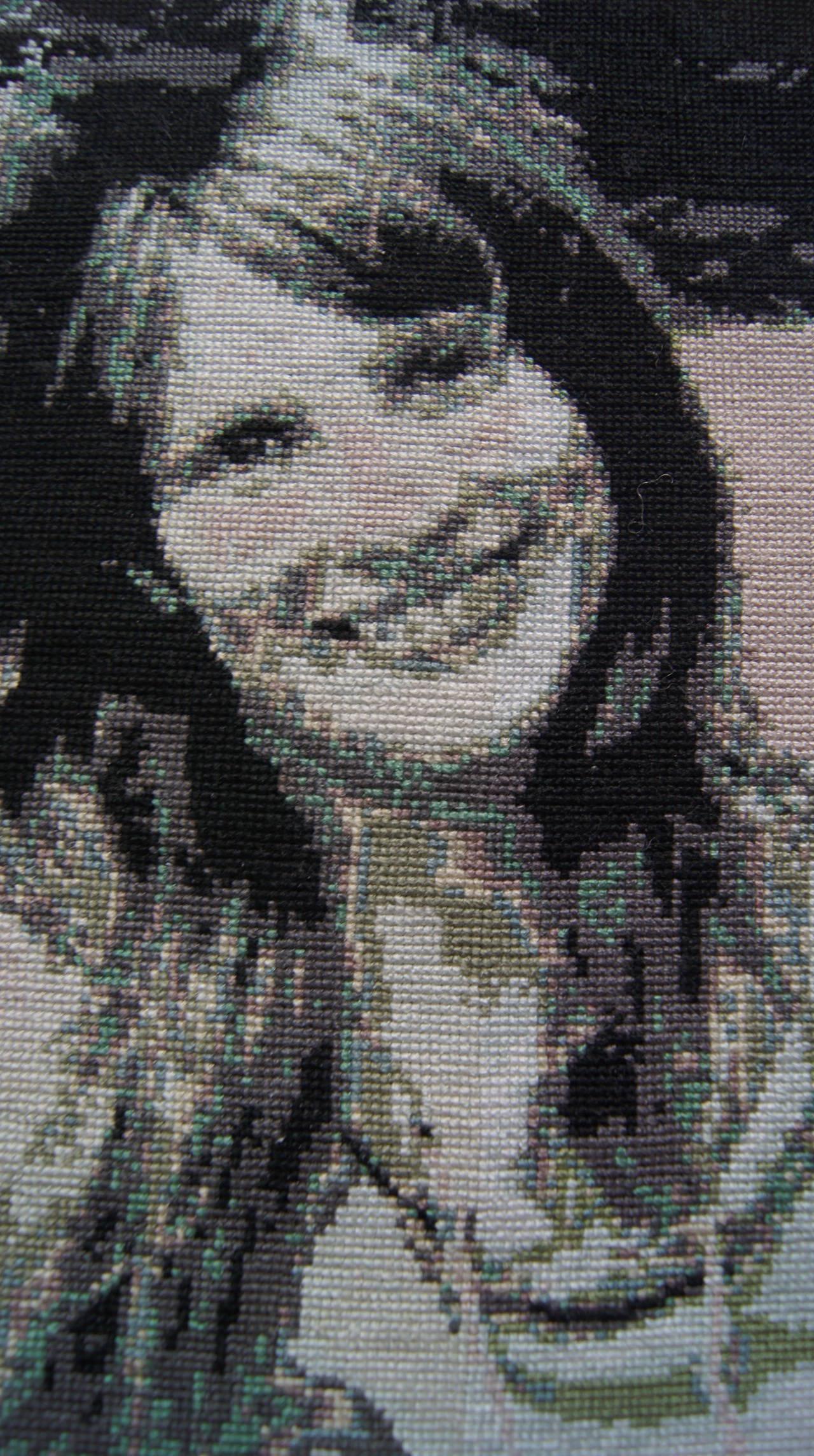 портрет в технике счетный крест
