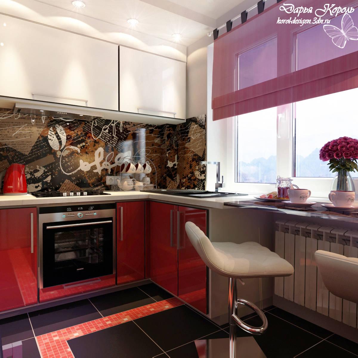 Кухня наряженная в красное=)
