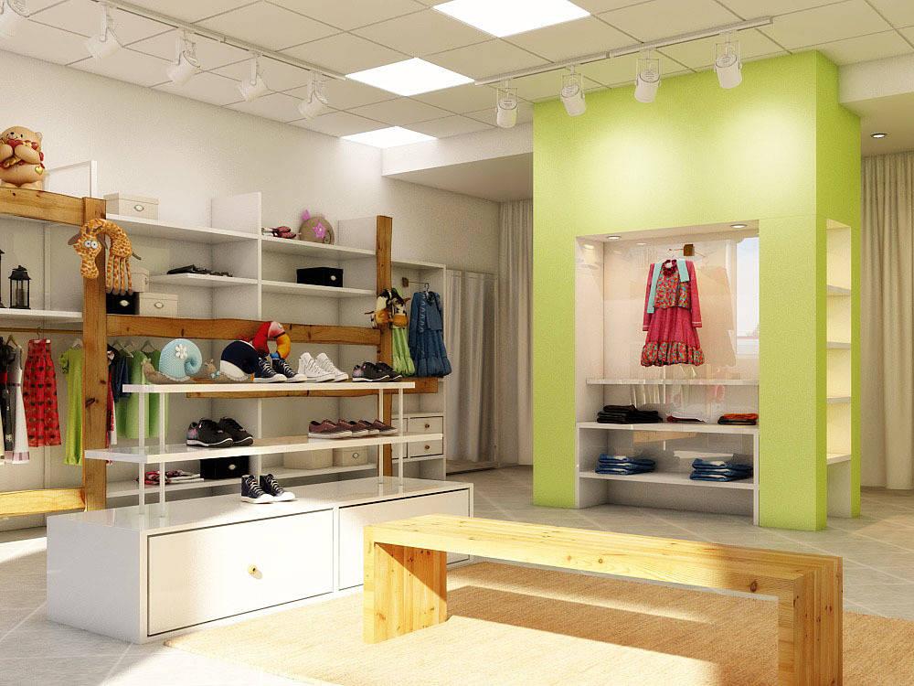 Дизайн интерьера магазина детской одежды