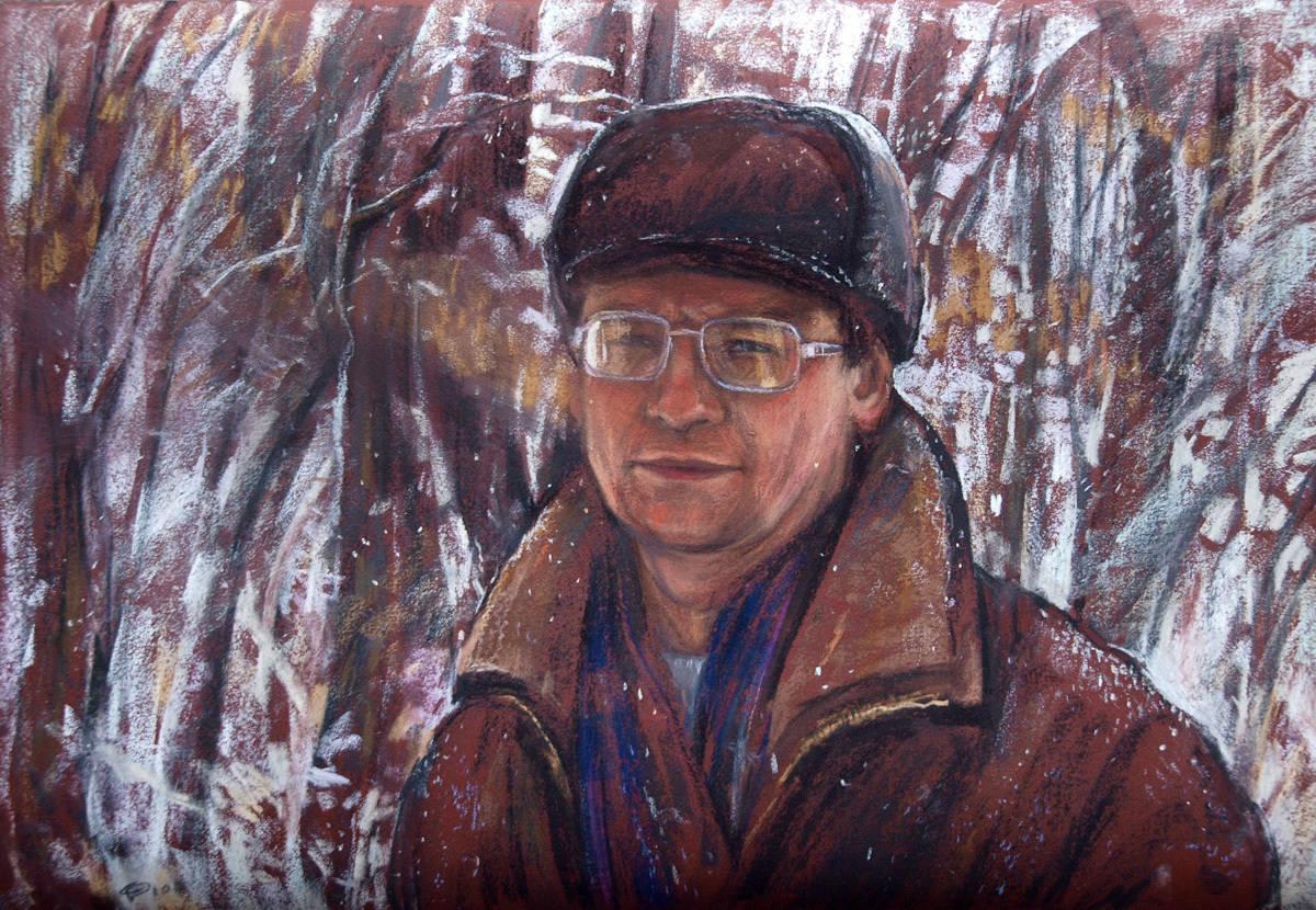 Савинова Роза. Первый снег. Бумага, пастель, 50х70