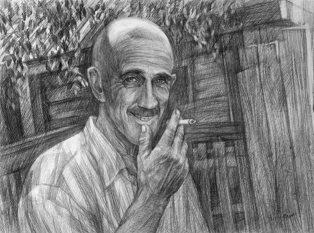 Руфат абы. Бумага, карандаш, 40х58