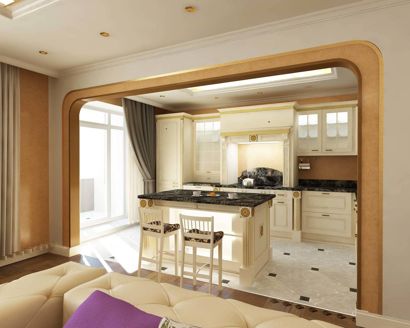 Квартира в стиле неоклассики