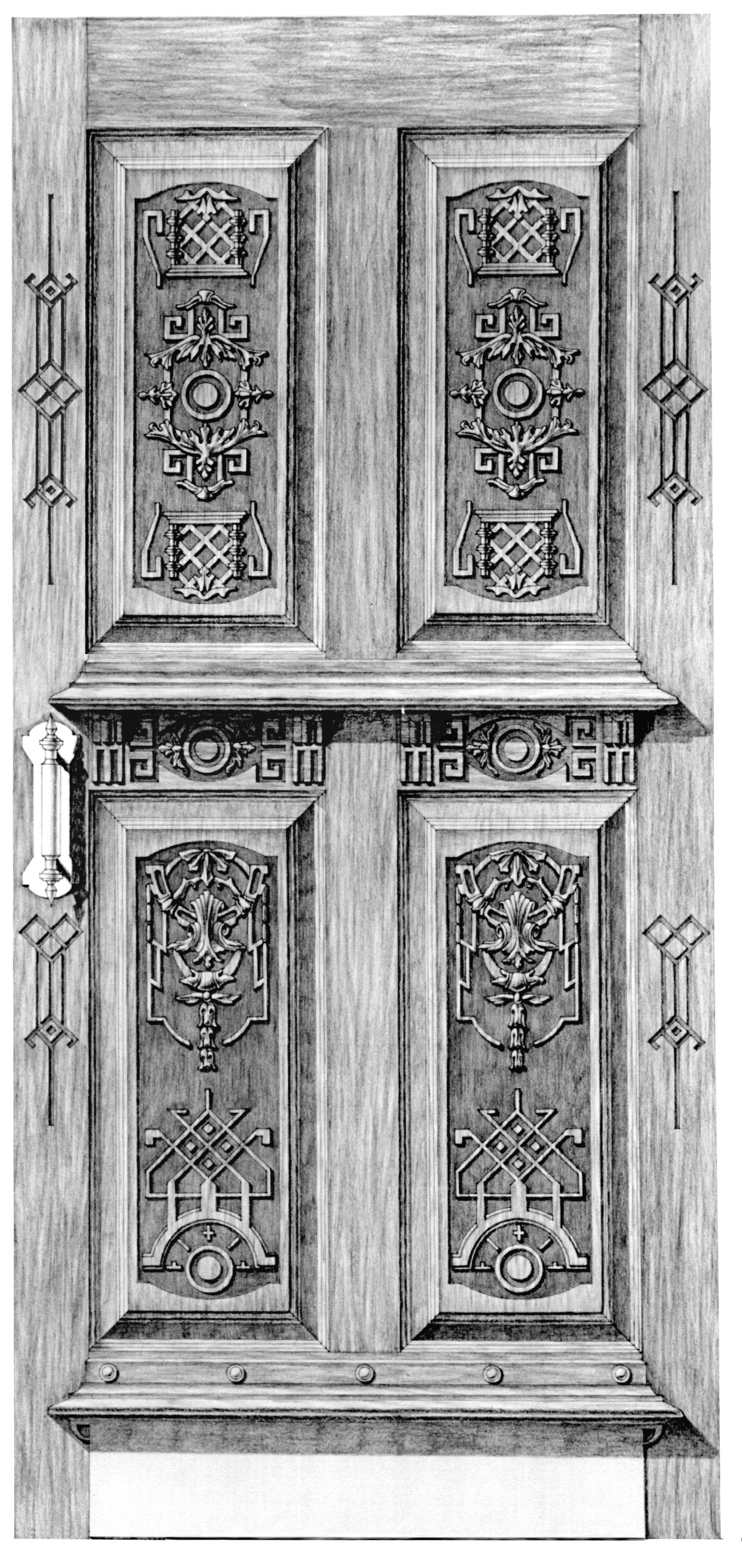 Дверь входная. Стиль французского регентства.