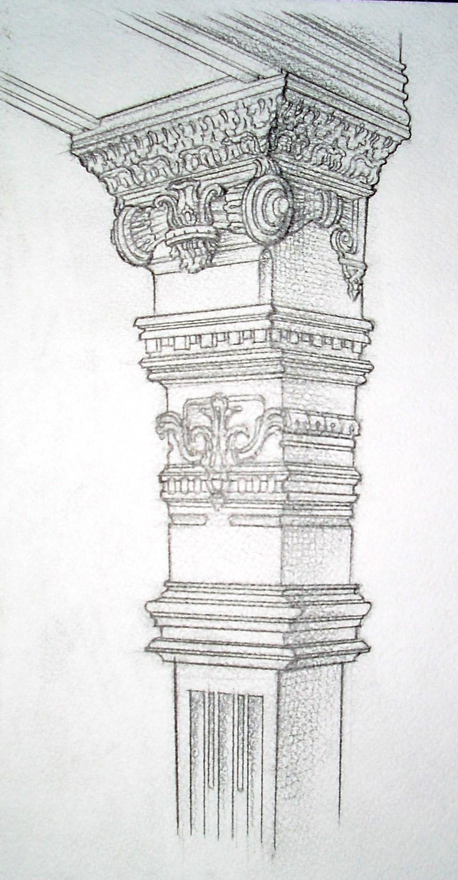 Фрагмент капители колонны. Викторианский стиль.