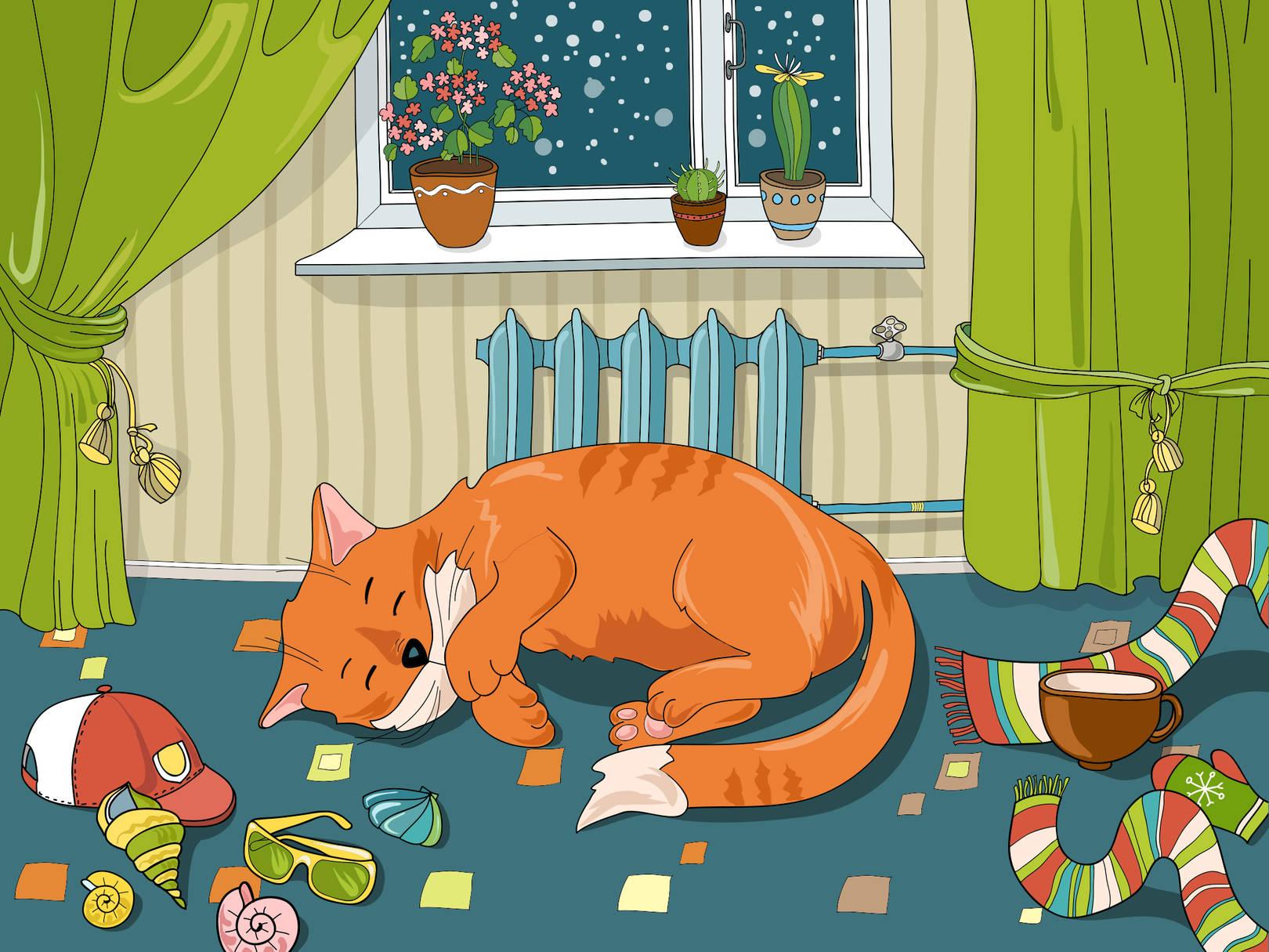 Иллюстрация для интерактивной раскраски