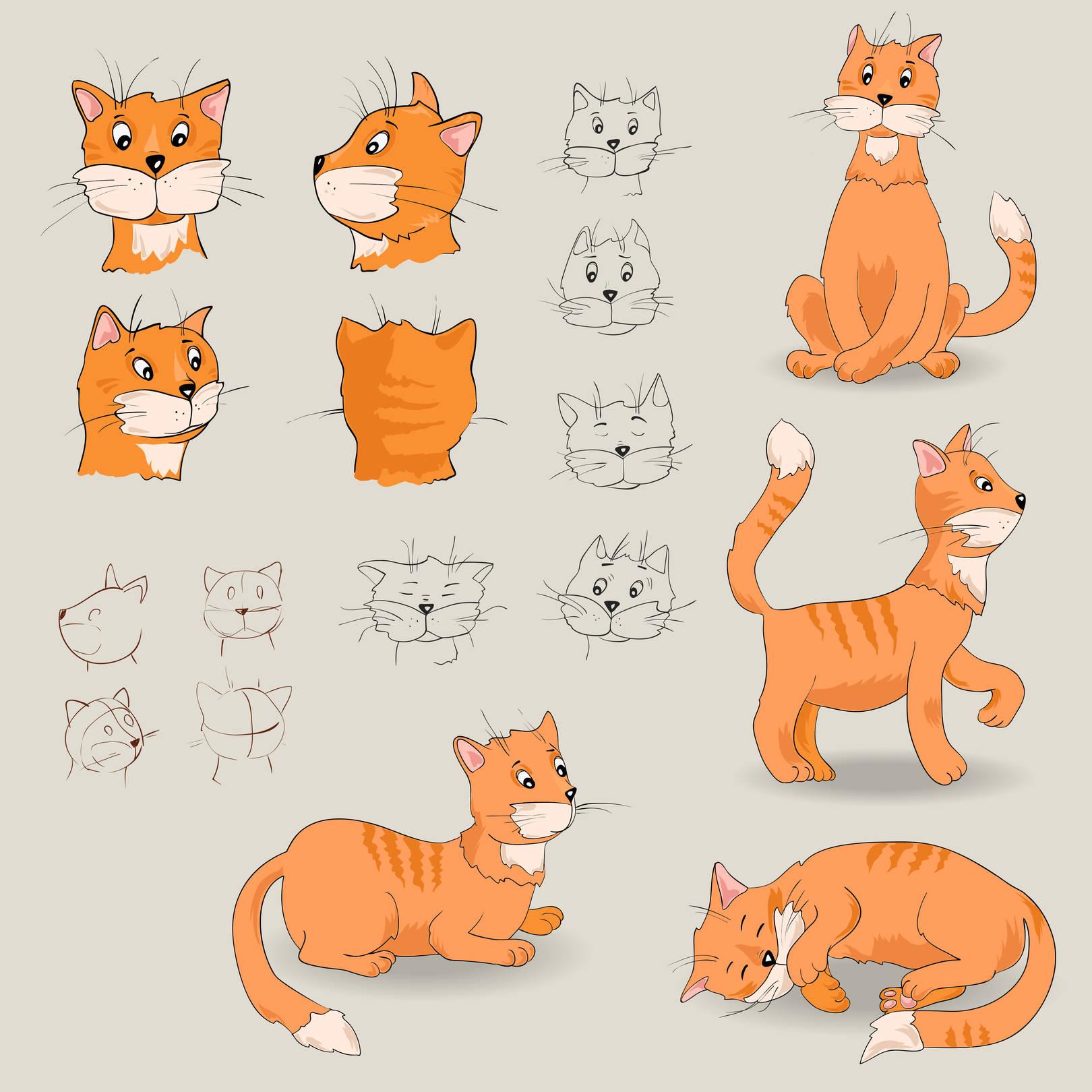 Разработка персонажа - Котик