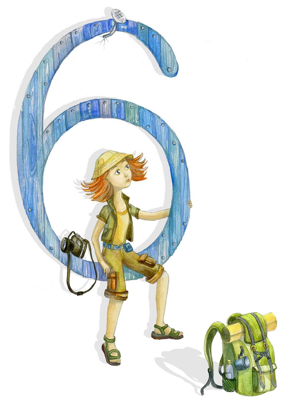 Иллюстрация к детской книге-блокноту