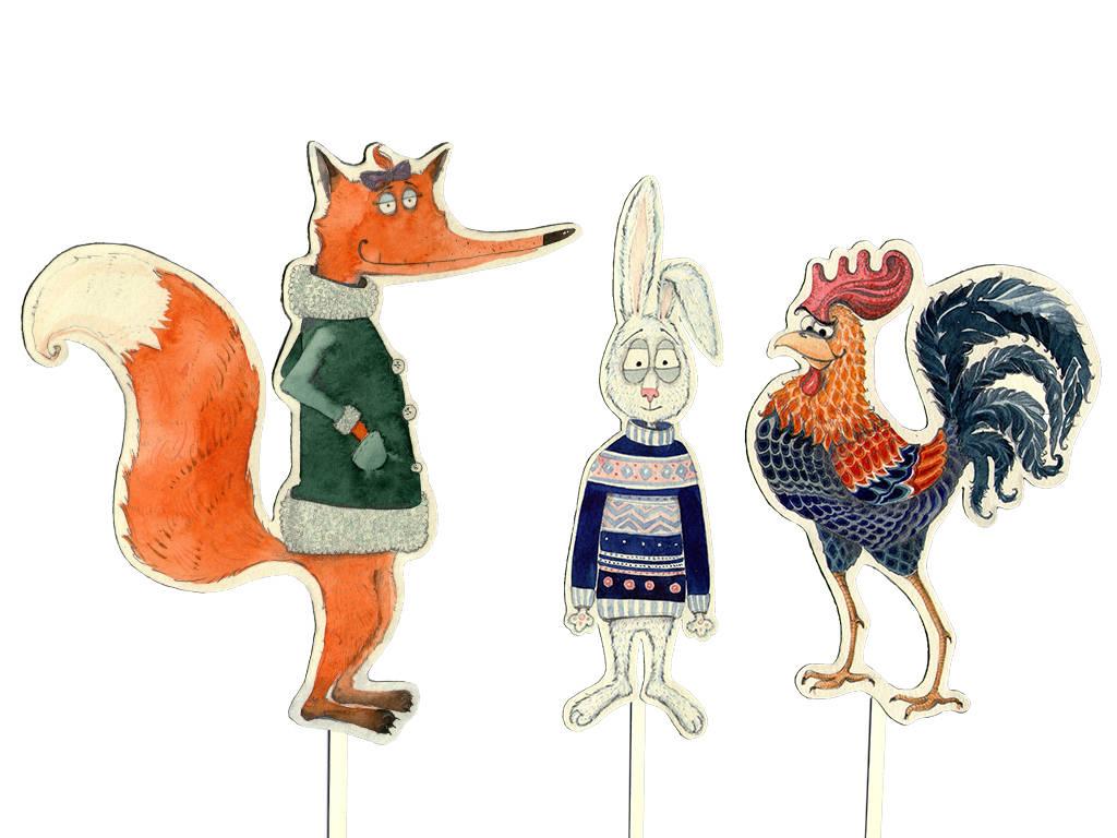 Fox, Hare, Rooster. Ліска, Зайка, Пеўнік :)