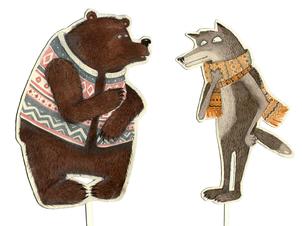 Bear and Wolf. Мішка і Волк :)