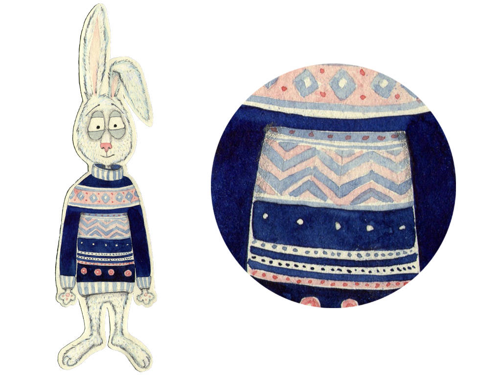 """Concept for children's game """"Hut of Hare"""" Канцэпцыя для дзіцячай гульні """"Зайкава хатка"""""""