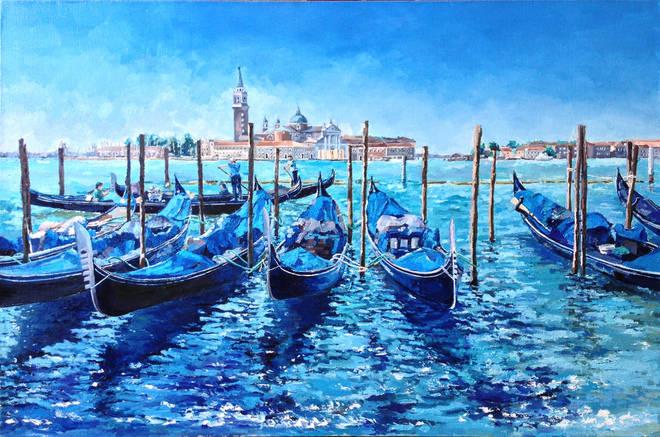 Венеция. Италия. х.м., 60х90, 2014 г.