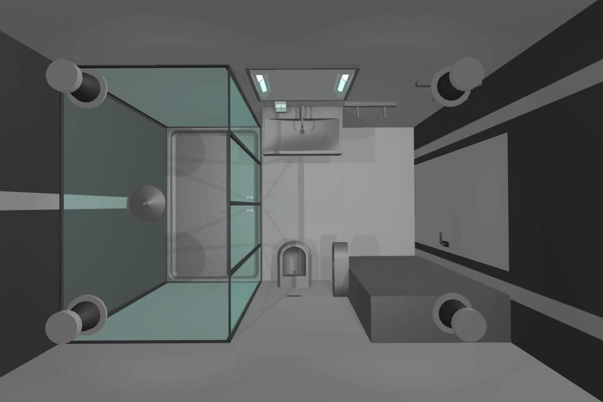 Ванная комната.2 этаж.Вид сверху.