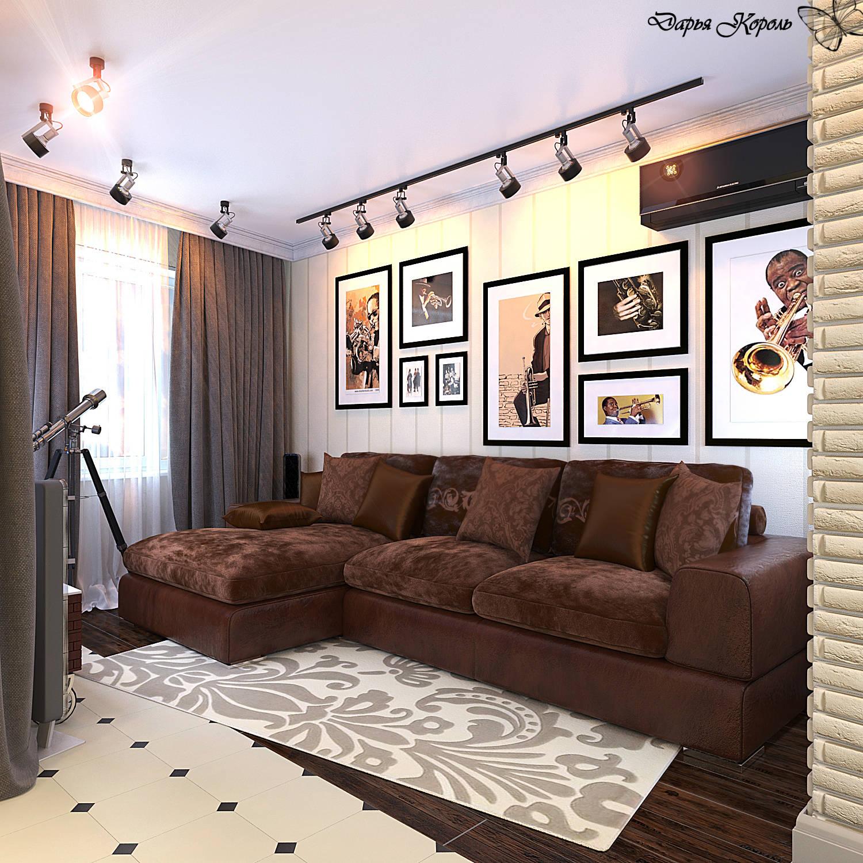 "living room-kitchen studio ""In the rhythm of jazz"""