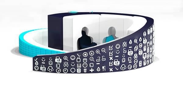 Design unusual reception / Дизайн рецепции