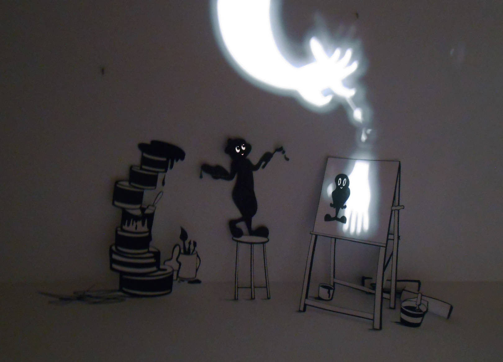 The play of light with shadow.In  the creation of a masterpiece