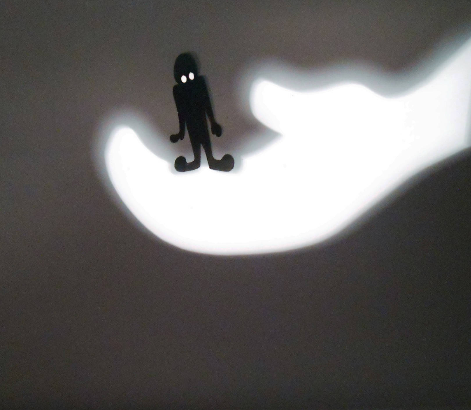 The play of light with shadow.
