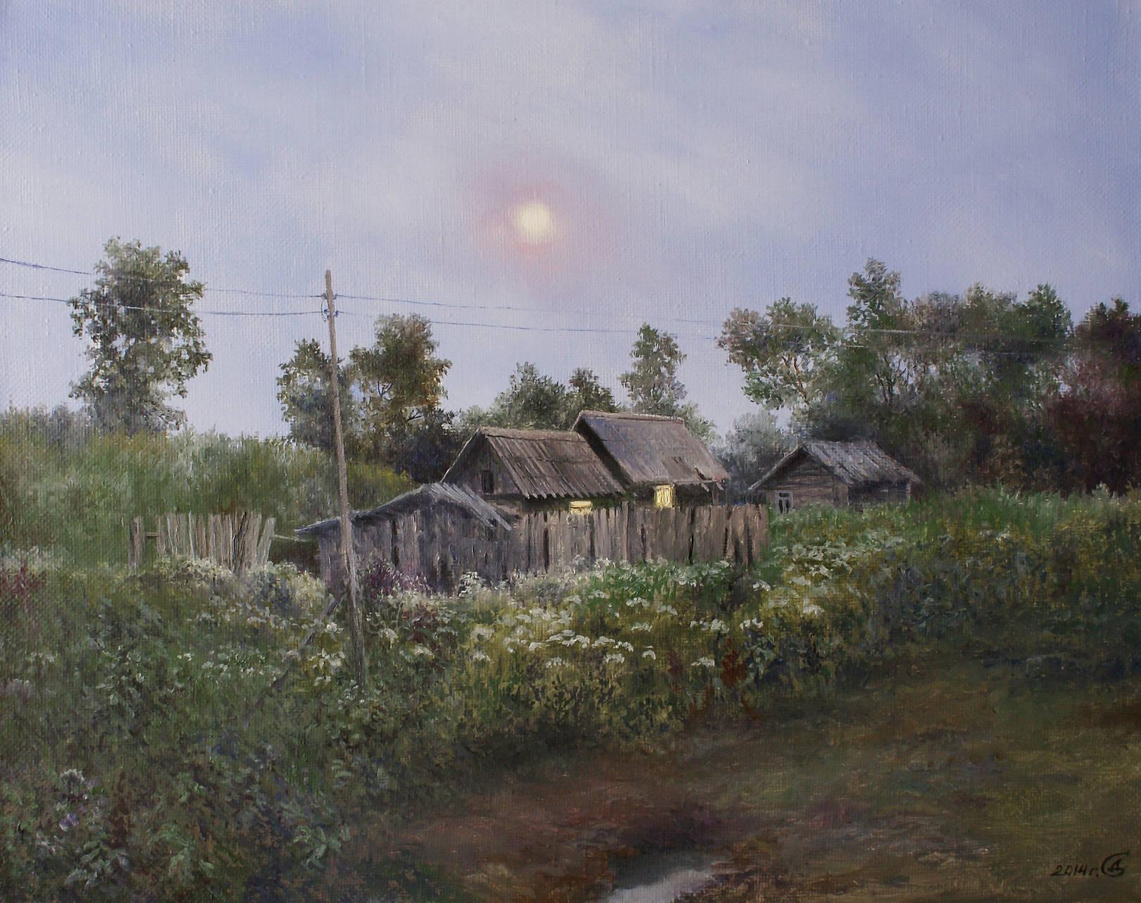 """""""Сумерки"""" - х/м, 40х50"""